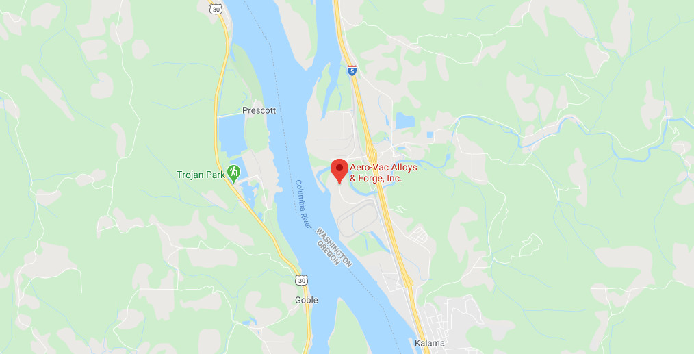 Aero-Vac Alloys & Forge, Inc. is located in Kalama, Washington, USA